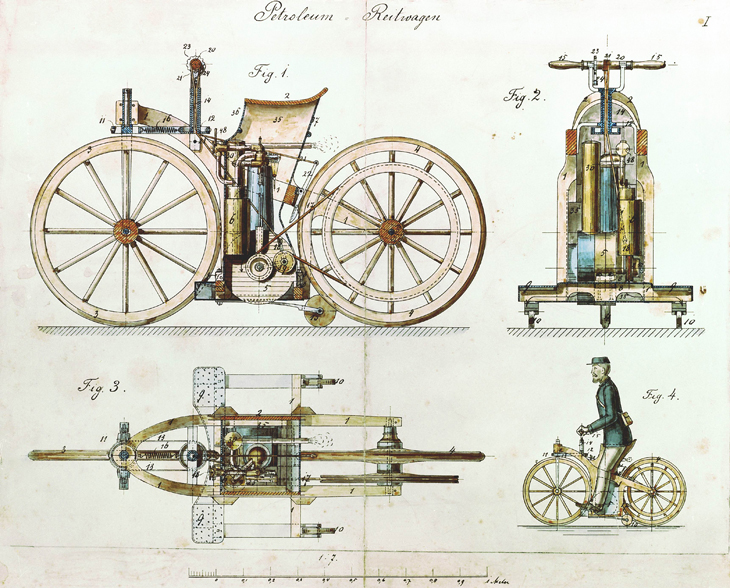 Patent for World's First Motorcycle - Gottlieb Daimler