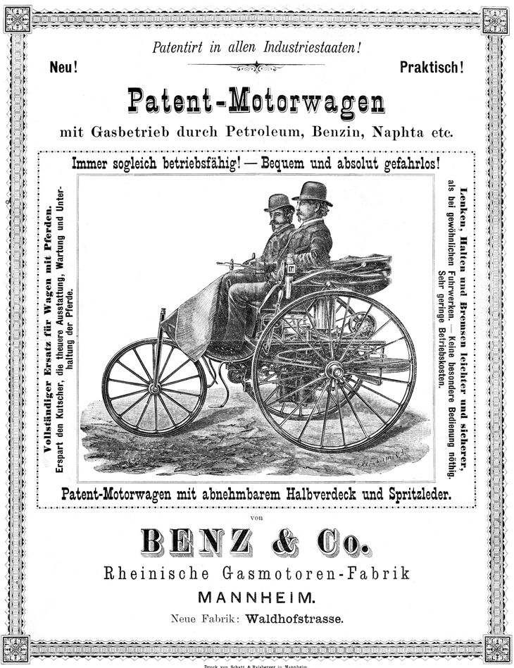 Benz Motorwagen Advertisement