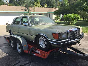 Mercedes Benz made it home for restoration