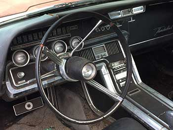 Steering column of classic car