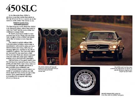 Mercedes-Benz 1979 450SLC Advertising
