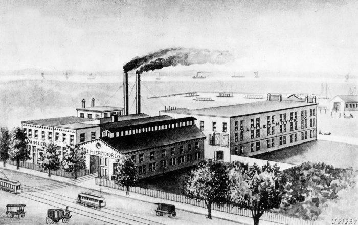 Daimler Office in New York Historical Drawing