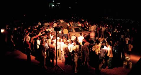 Mercedes-Benz Bandama Rally Photo Ivory Coast Night Time Service Stop