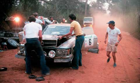 Bandama Rally Race - 1979 - Ivory Coast Mercedes-Benz 45SL