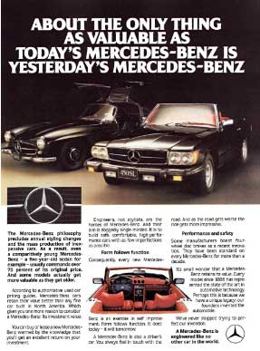 Mercedes-Benz Advertisement 450SLC