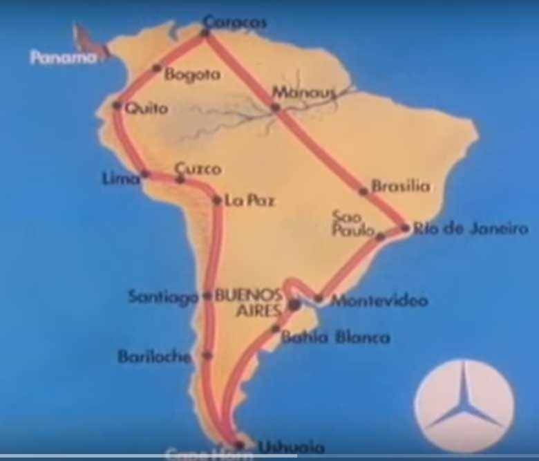 1978 - WRC - World Rally Championship Route - South America