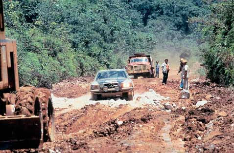 Zazada tackling the unbelievable conditions encountered on the Rally of South America in 1978